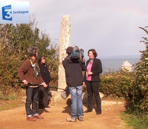 tournage FR3 Bretagne avec l'équipe de Nathalie Rossignol